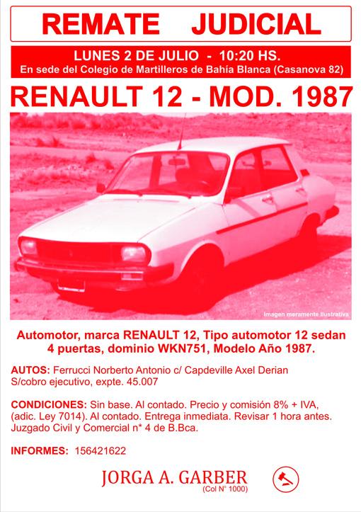 RENAULT 12 Mod 87