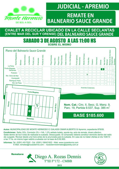Remates Municipalidad Monte Mermoso