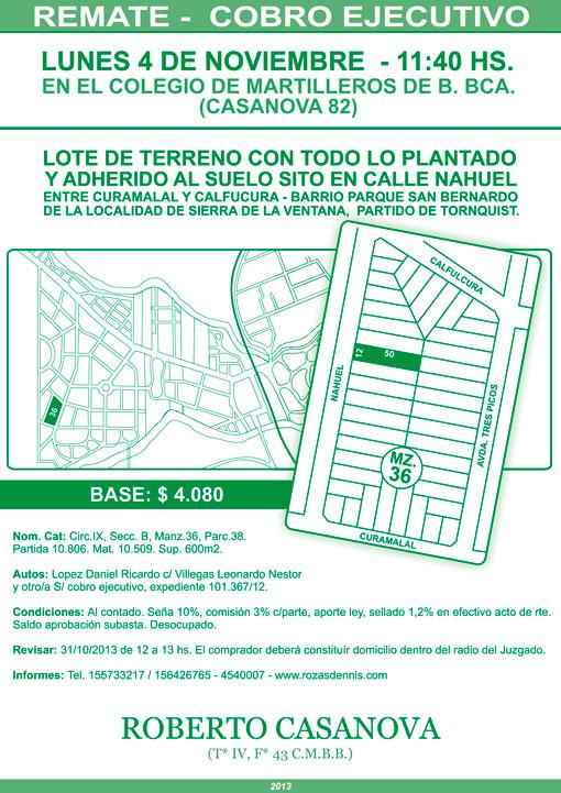 Remate San Bernardo – Sierra de la Ventana